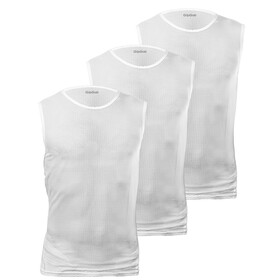 GripGrab Ultralight Baselayer In Mesh A Maniche Corte confezione da 3, white